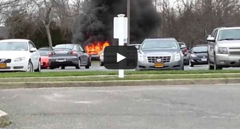 فيديو: أراد قتل الحشرات بالكحول لكنه أحرق سيارته
