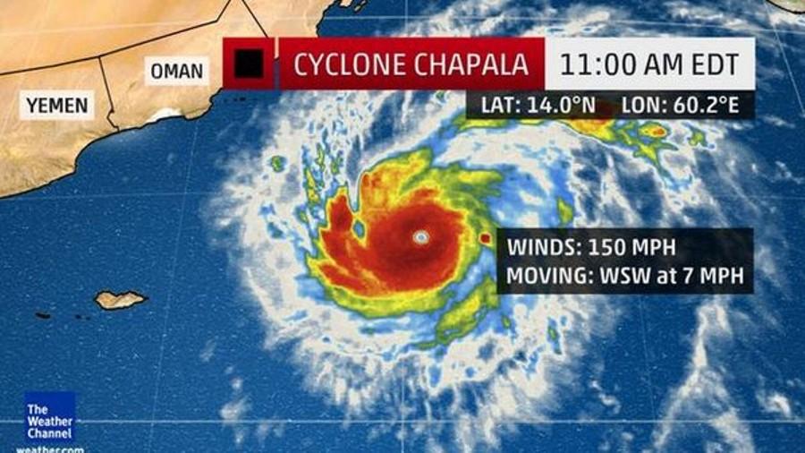 إعصار نادر يهدد سلطة عمان ودولة اليمن