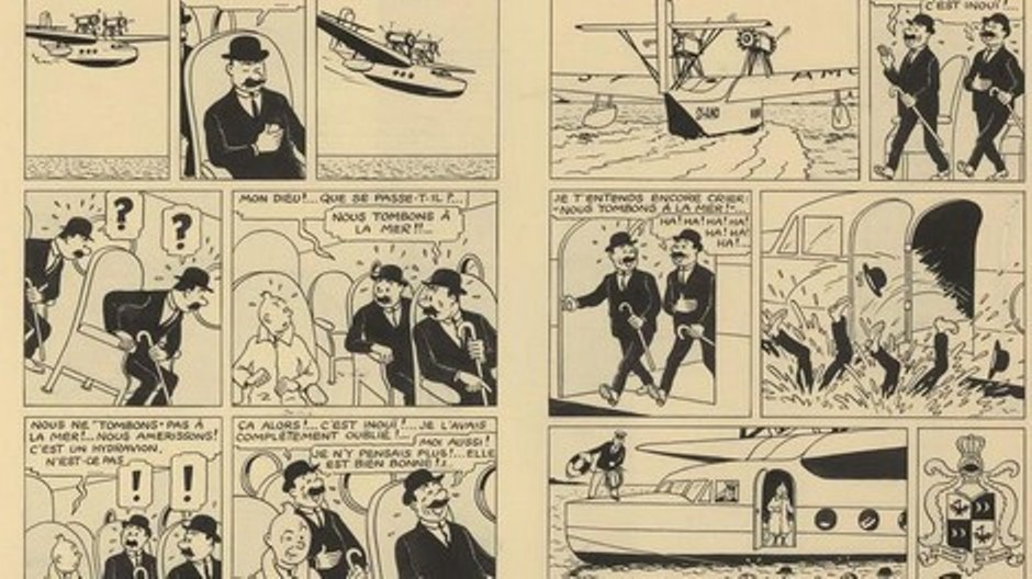 "بيع صفحة من قصص ""تان تان"" بسعر خيالي auction"