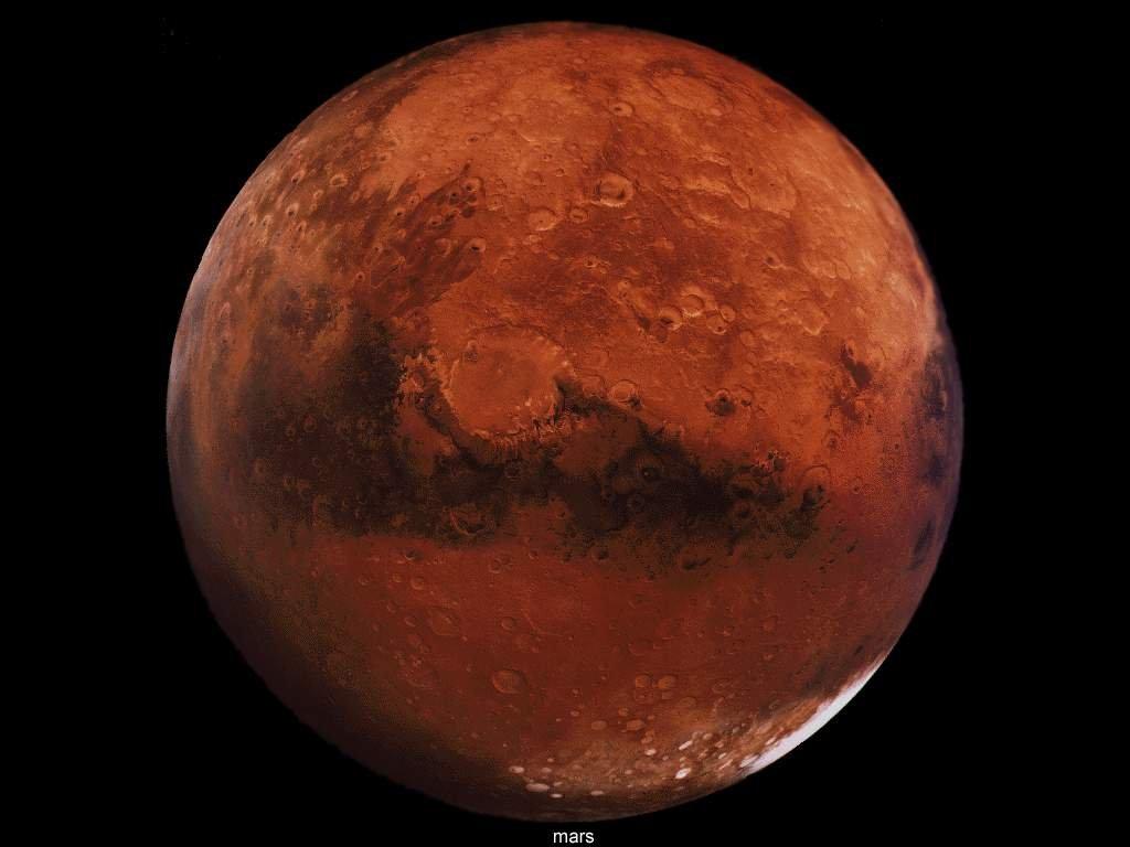 تواجد أنهار جليدية على سطح المريخ