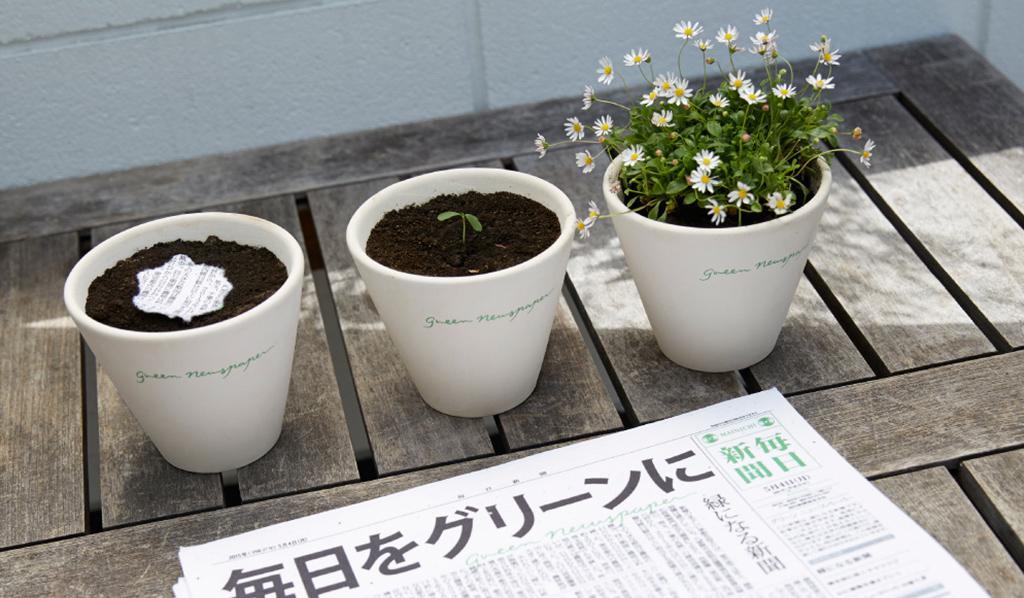 جرائد تتحول إلى نباتات وزهور في كوكب اليابان