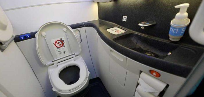 جنين بشري في حمام طائرة