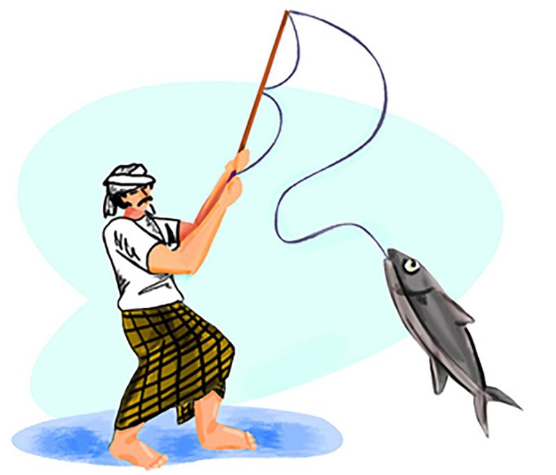 طريقة صيد السمك بالصنارة