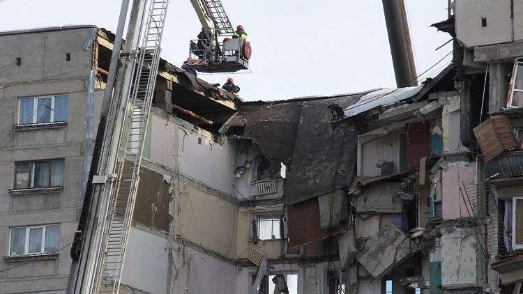 لقطات مرعبة للأنهيار مبنى سكني!