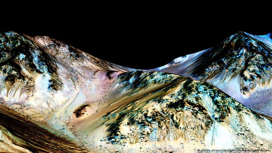 هذه أدلة من الناسا Nasa على وجود مياه سائلة على المريخ