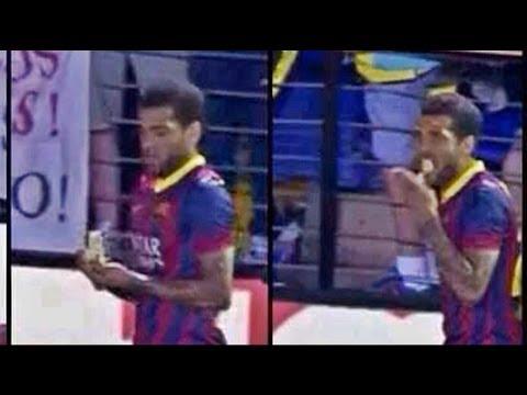 فيديو: العنصرية بالموز ضد اللاعب ألفيس