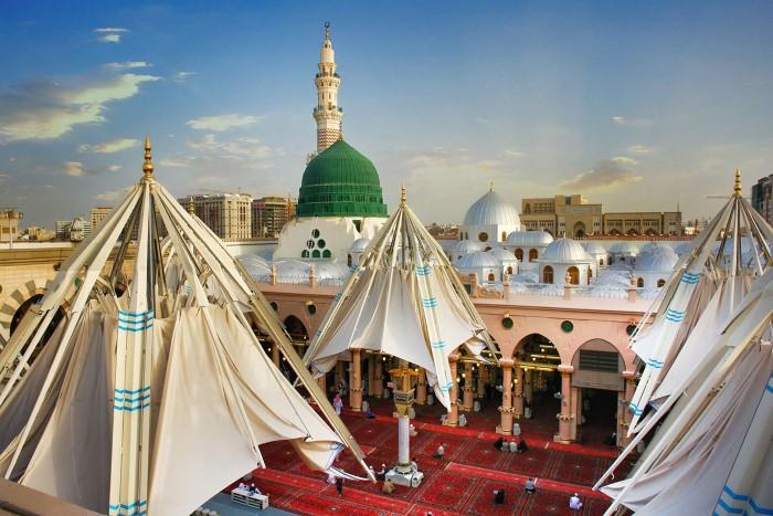 1-مظلات-المسجد-النبوية-في-المدينة-المنورة