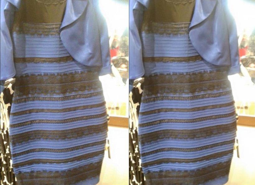 اللون الحقيقي للفستان الذي قسم العالم مع التفسير العلمي