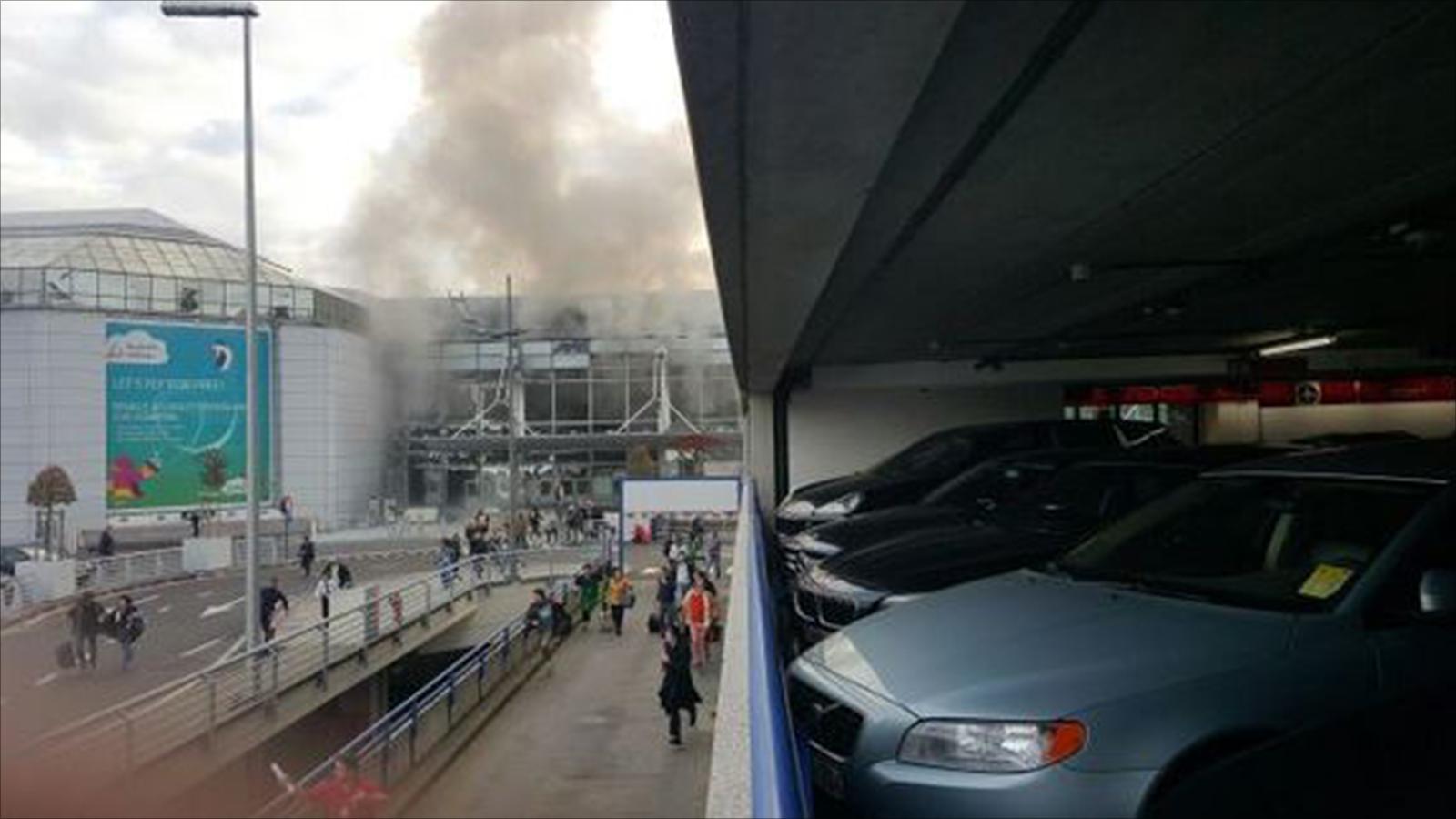 عاجل: تفجيرات في مطار بروكسيل Brussels Airport ببلجيكا